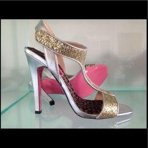 Betsey Johnson pink bottom party heels 8